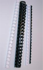 Plastspiral 12 mm, SORT, 100 pr. ks.