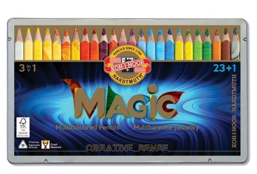 Koh-I-noor JUMBO Magic Jumbo farveblyanter  23+1