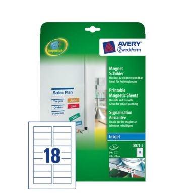 Avery magnetiske ark J8867 printark A4 til inkjetprint f1c1a5be302fc