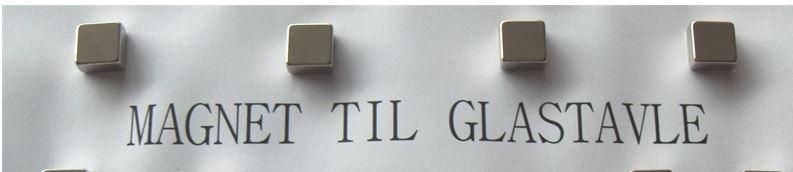 Velsete Magnet til glastavle 10 x 10mm, 6 stk. pr. pakke TQ-45